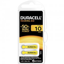 Duracell Hörgerätebatterien - 10 - Packung à 6 Stk_9843