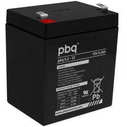 pbq Standard Bleiakku 5.2-12 - 12V - 5.2Ah / T2_9965