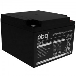 pbq Standard Bleiakku 26-12 - 12V - 26Ah_9968